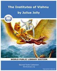 The Institutes of Vishnu, Score Hin Sbe0... Volume Vol. 7 by Jolly, Julius
