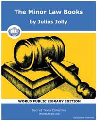 The Minor Law Books, Score Hin Sbe33 by Jolly, Julius