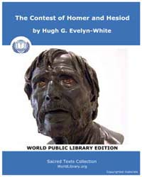 The Contest of Homer and Hesiod, Score H... by Evelyn-white, Hugh G.