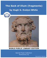 Homerica, the Sack of Ilium Fragments, S... by Evelyn-white, Hugh G.