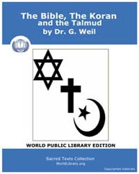 The Bible, the Koran, and the Talmud, Sc... by Weil, Dr. G.