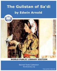 The Gulistan of Sa'Di, Score Gulistan by Arnold, Edwin