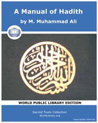 A Manual of Hadith by Ali, M. Muhammad