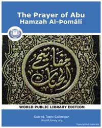 The Prayer of Abu, Hamzah Al-þomálí, Sco... by Sacred Texts