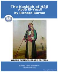 The Kasîdah of Hâjî Abdû El-yezdî, Score... by Burton, Richard