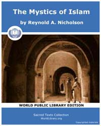 The Mystics of Islam by Nicholson, Reynold A.