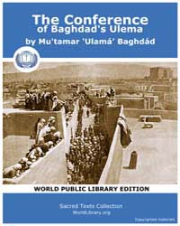 The Conference of Baghdad's Ulema, Score... by Baghdád, Mu'Tamar ulamá