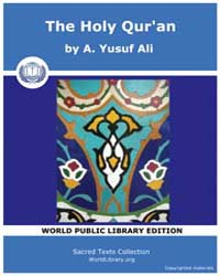The Holy Qur'An, Score Quran by Ali, A. Yusuf