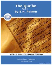 The Qur'Ân, Part I, Score Sbe06 Volume Vol.6 by Palmer, E. H.