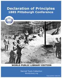 Declaration of Principles - 1885 Pittsbu... by Pittsburgh Conference