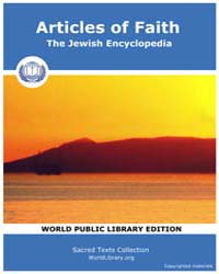 Articles of Faith, the Jewish Encycloped... by Sacred Texts