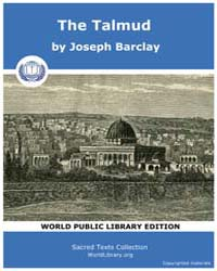 The Talmud, Score Jud Bar by Barclay, Joseph