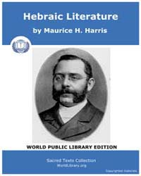 Hebraic Literature by Harris, Maurice H.