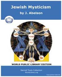 Jewish Mysticism, Score Jud Jm by Abelson, J.