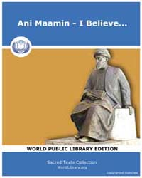 Ani Maamin - I Believe... by Jason Aronson Press, Montvale, Nj