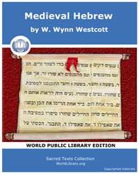 Medieval Hebrew, Score Jud Mhl Volume Vol.IV by Westcott, W. Wynn