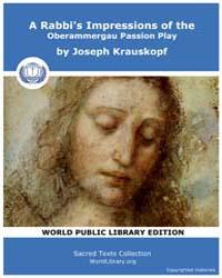 A Rabbi's Impressions of the Oberammerga... by Krauskopf, Joseph