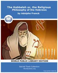 The Kabbalah Or, the Religious Philosoph... by Franck, Adolphe