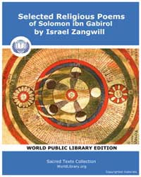 Selected Religious Poems of Solomon Ibn ... by Zangwill, Israel