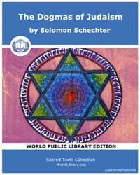 The Dogmas of Judaism, Score Jud Studies by Schechter, Solomon