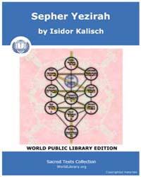 Sepher Yezirah, Score Jud Sy by Kalisch, Isidor