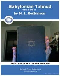 Babylonian Talmud, Vols. I and II Volume I-II by Rodkinson, M. L.