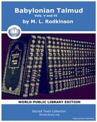 Babylonian Talmud, Volume V and Vi, Scor... by Rodkinson, M. L.