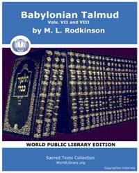 Babylonian Talmud, Volume VII and Viii, ... by Rodkinson, M. L.