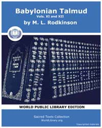 Babylonian Talmud, Volume Xi and Xii, Sc... by Rodkinson, M. L.