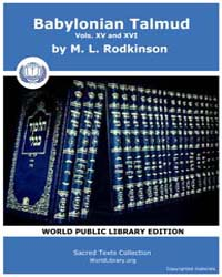 Babylonian Talmud, Volume Xv and Xvi, Sc... by Rodkinson, M. L.