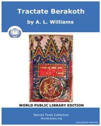 Tractate Berakoth, Score Jud Tbr by Williams, A. L.