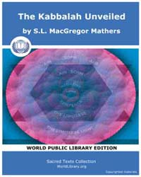 The Kabbalah Unveiled, Score Jud Tku by MacGregor Mathers, S. L.