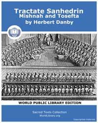 Tractate Sanhedrin Mishnah and Tosefta, ... by Dan, Herbert