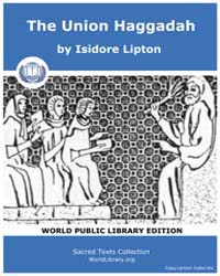 The Union Haggadah by Lipton, Isidore