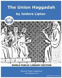 The Union Haggadah by Lipton, Isidore