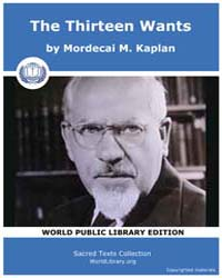 The Thirteen Wants by Kaplan, Mordecai M.