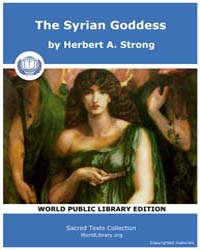 The Syrian Goddess, Score Luc Tsg by Strong, Herbert A.