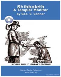 Shibboleth : a Templar Monitor, Score Ma... by Connor, Geo. C.