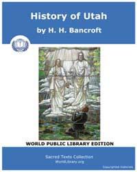 History of Utah, Score Mor Hu by Bancroft, H. H.