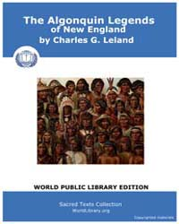 The Algonquin Legends of New England by Leland, Charles G.