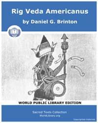 Rig Veda Americanus by Brinton, Daniel G.