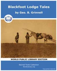 Blackfoot Lodge Tales, Score Nam Blt by Grinnell, Geo. B.
