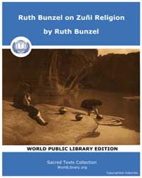 Ruth Bunzel on Zuñi Religion, Score Nam ... by Bunzel, Ruth