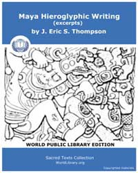 Maya Hieroglyphic Writing (Excerpts) by S. Thompson, J. Eric
