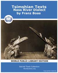 Tsimshian Texts Nass River Dialect, Scor... by Boas, Franz
