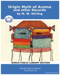 Origin Myth of Acoma and Other Records, ... by Stirling, M. W.