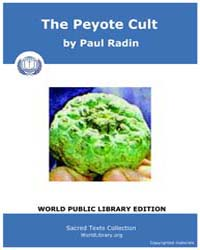 The Peyote Cult, Score Nam Pey by Radin, Paul