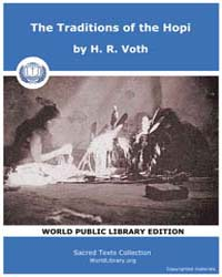 The Traditions of the Hopi, Score Nam To... by Voth, H. R.