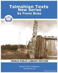 Tsimshian Texts : New Series, Score Nam ... Volume Vol. III by Boas, Franz