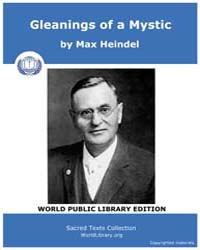 Gleanings of a Mystic, Score Ros Gleen by Heindel, Max